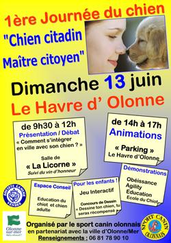 télécharger l'affichette journée du chien 13 juin 2010